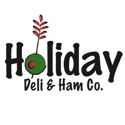 holiday deli and ham logo